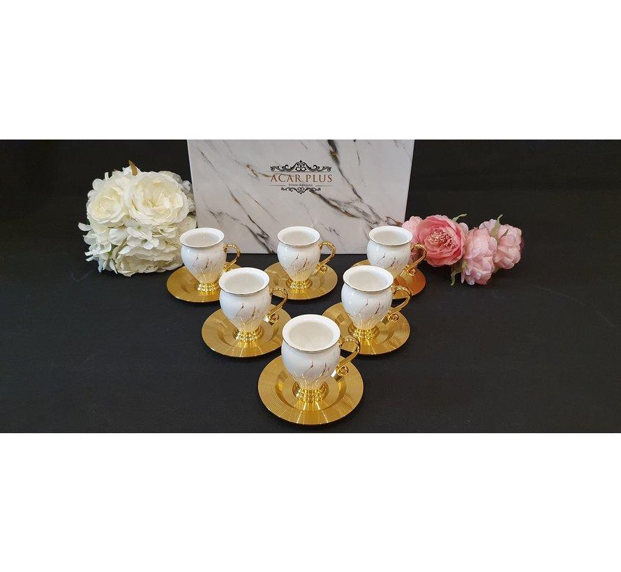ACR Sultan 12 Delig Espressoset Gold-Wit-Rose