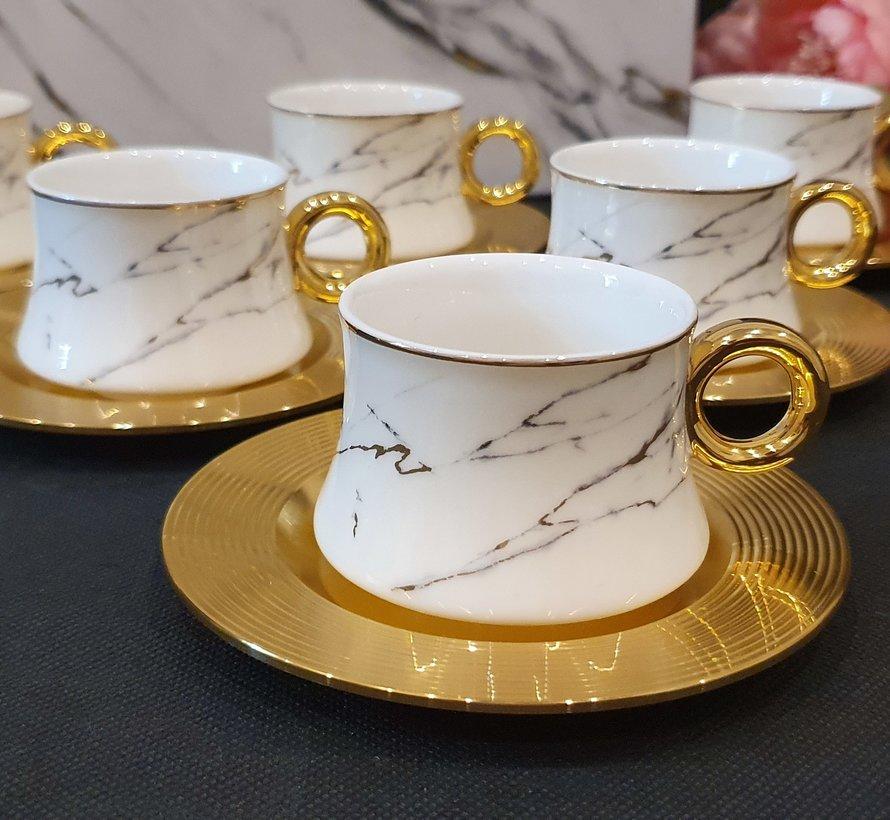ACR Pasa 12 Delig Espressoset Gold-Wit
