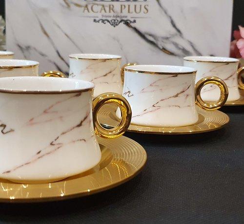 ACR ACR Pasa 12 Delig Espressoset Gold-Wit-Rose