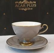 ACR ACR Cevher 12 Delig Espressoset Grijs-Gold