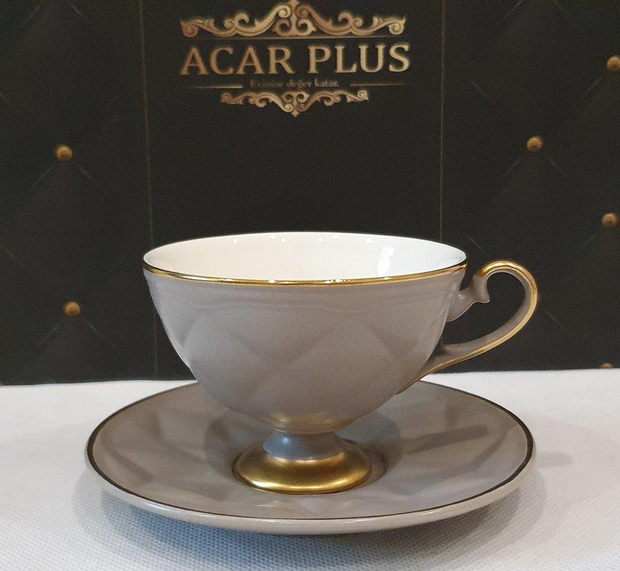 ACR Cevher 12 Delig Espressoset Grijs-Gold