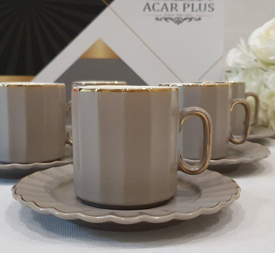 ACR Manolya 12 Delig Espressoset Grijs