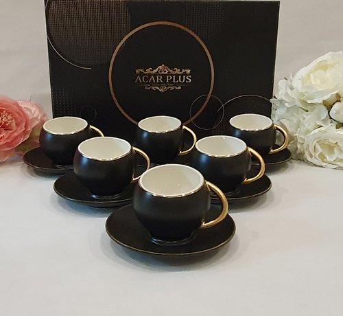 ACR ACR Bahar 12 Delig Espressoset Zwart