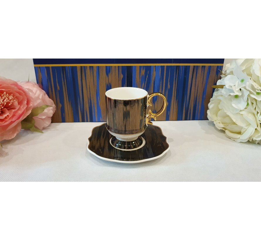 ACR Saray 12 Delig Espressoset Zwart