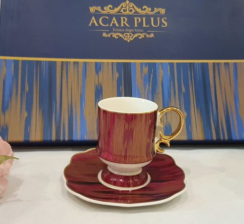 ACR ACR Saray 12 Delig Espressoset Bordeau