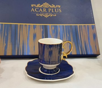 ACR ACR Saray 6 Kisilik Turk Kahvesi Seti Mavi