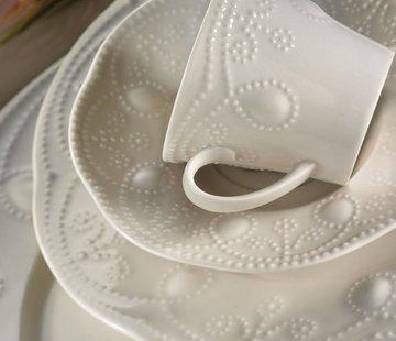 KUTAHYA Kütahya Porselen Fulya Krem 24-delig Serviesset