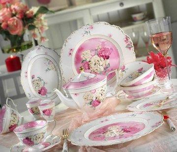 KUTAHYA Kütahya Porselen 38-delig porseleinen ontbijtset 21100