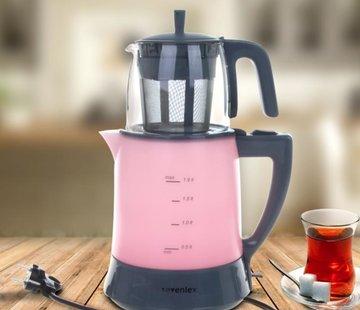 Sevenlex Teefan Elektrikli Pembe Çay Makinesi