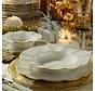 Kütahya Porselen 83 Parça Milena Krem Fileli Yuvarlak Yemek Takımı
