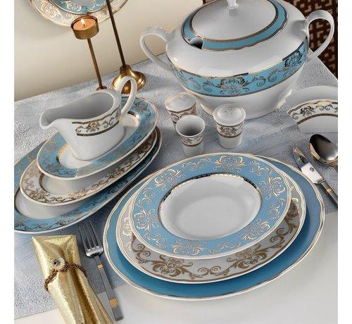 KUTAHYA Kütahya Porselen 97 Parça İris Yuvarlak Yemek Takımı 6914