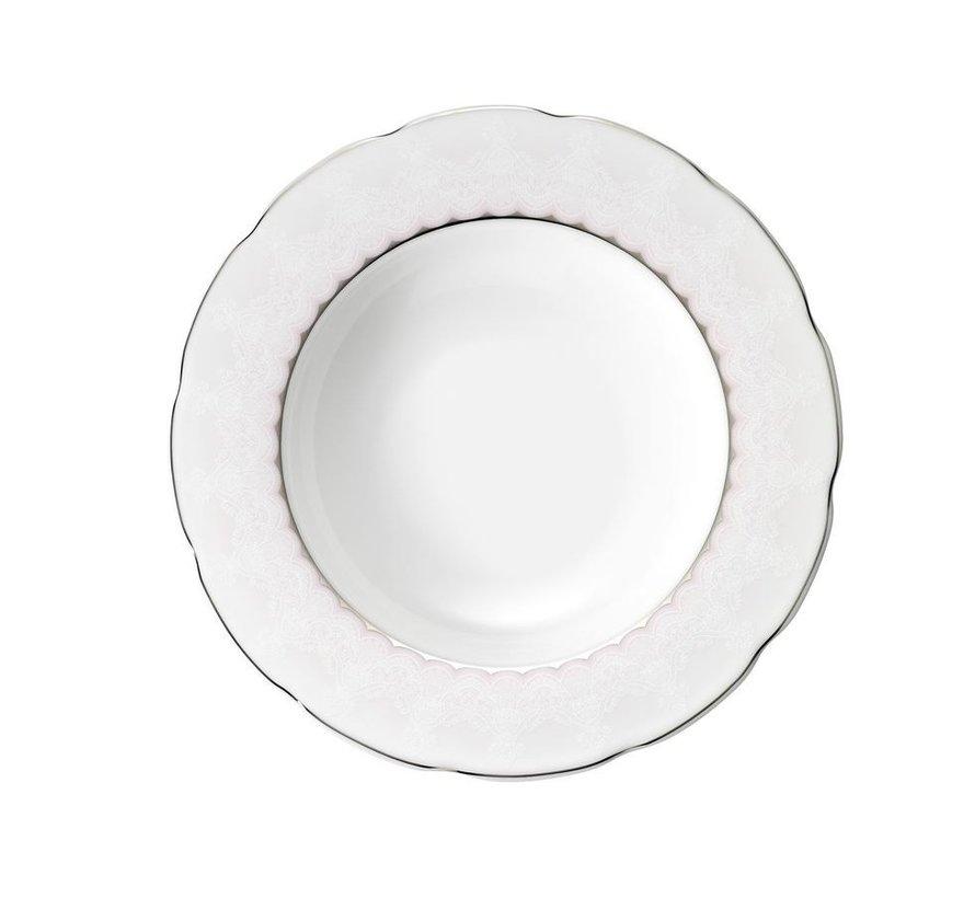 Kütahya Porselen Bone Kalipso 62 Parça Desenli Yuvarlak Yemek Takımı 92904
