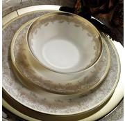 KUTAHYA Kütahya Porselen Bone Kalipso 62-delig Serviesset met patroon 930621