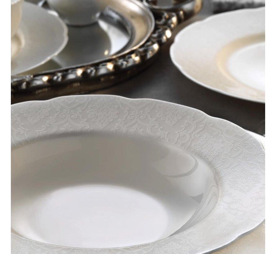 Kütahya Porselen Bone Olympos 62-delig Serviesset met patroon 10061
