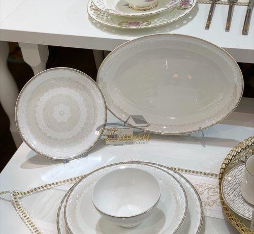 BRICARD PORCELAIN Bricard Porcelain Pessac 6-Persoons   25-Delig Serviesset