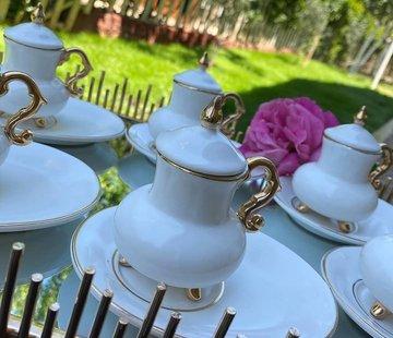 ACR ACR Kozan 18 Parca Turk Kahvesi Seti Beyaz