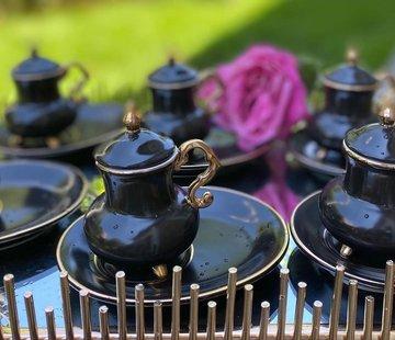 ACR ACR Kozan 18 Delig Espressoset Zwart