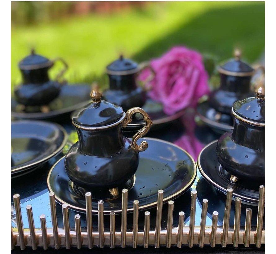 ACR Kozan 18 Delig Espressoset Zwart
