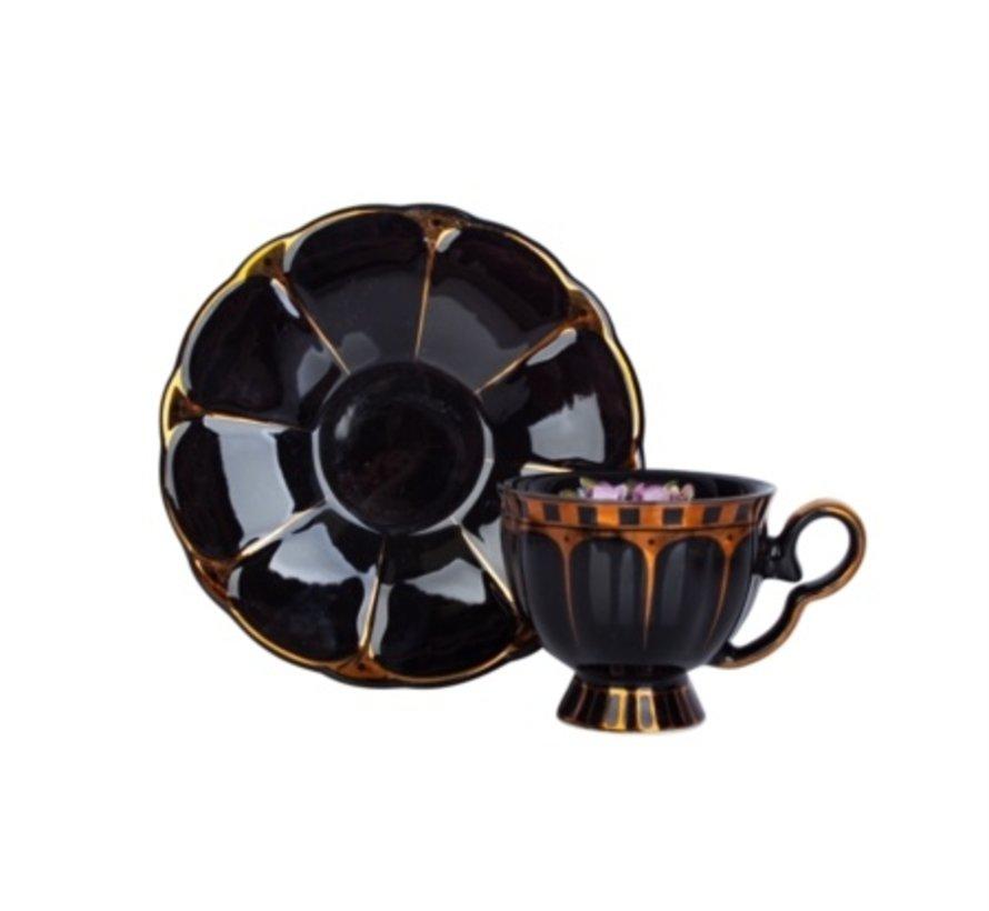 ACR Papatya 4 Delig |2 Persoon Espressoset Zwart