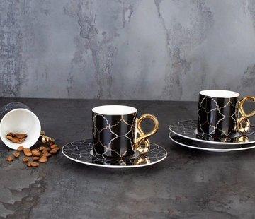 ACR ACR 12 Delig 6 Persoon Espressoset Zwart