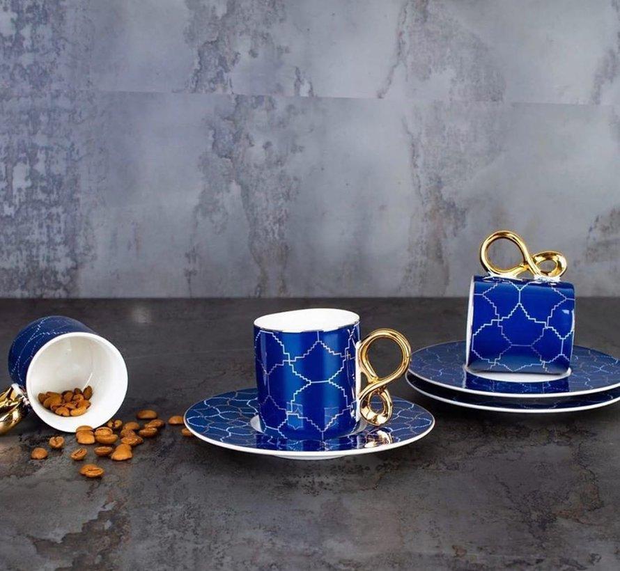 ACR 12 Delig 6 Persoon Espressoset Blauw