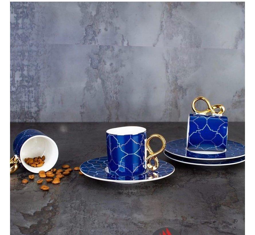 ACR Amoure 12 Delig   6 Persoon Espressoset Blauw