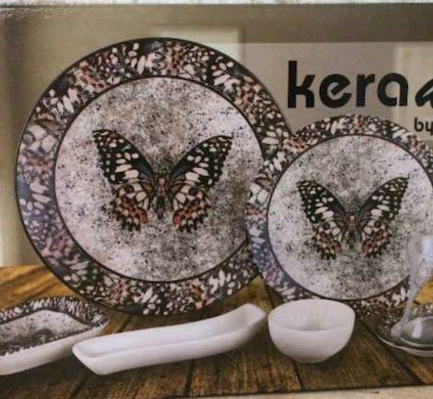 Keramika Vlinder 19 Delig Ontbijtset