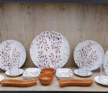 Keramika  Herfst 19 Delig Ontbijtset