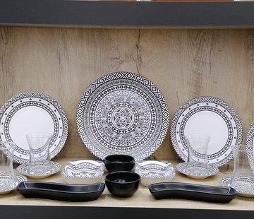 Keramika   Mozaik Kahvaltı Seti 19 Parça