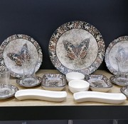 Keramika  Kelebek Kahvaltı Seti 19 Parça