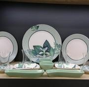 Keramika Lente  Kahvaltı Seti 19 Parça - Mavi Çiçekli