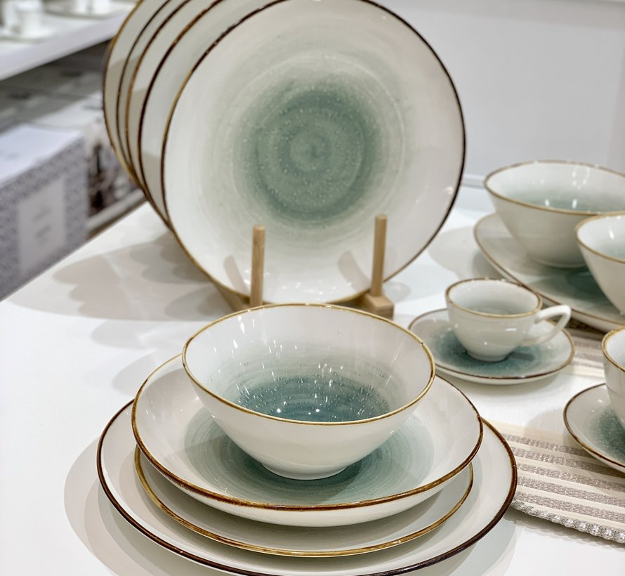 Bricard Porcelain Amiens Blauw-Bruin 6-Persoons | 25-Delig Serviesset