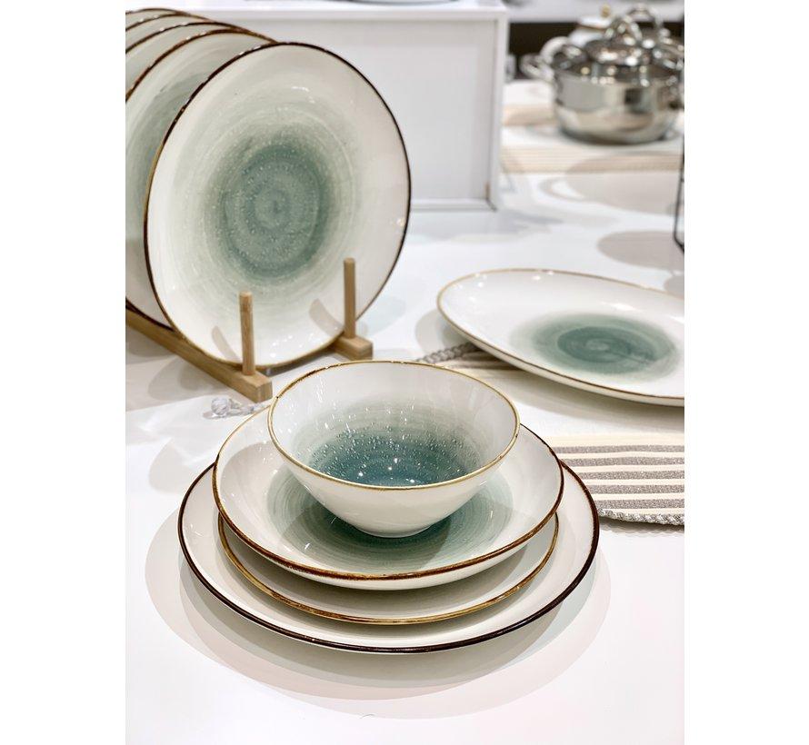 Bricard Porcelain Amiens Blauw-Bruin 6-Persoons | 25-Delig Serviesset