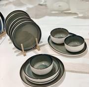 BRICARD PORCELAIN Bricard Porcelain Nice Yesil Kahve 6-Kisilik | 25-parça Yemek Takımı