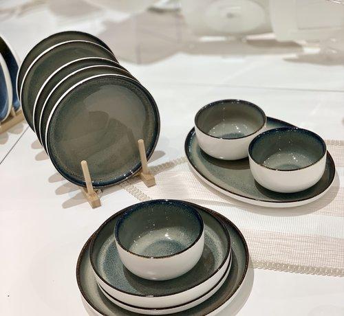 BRICARD PORCELAIN Bricard Porcelain Nice Groen-Blauw 6-Persoons | 25-Delig Serviesset