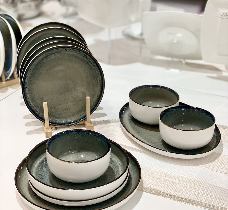Bricard Porcelain Nice Groen-Blauw 6-Persoons | 25-Delig Serviesset