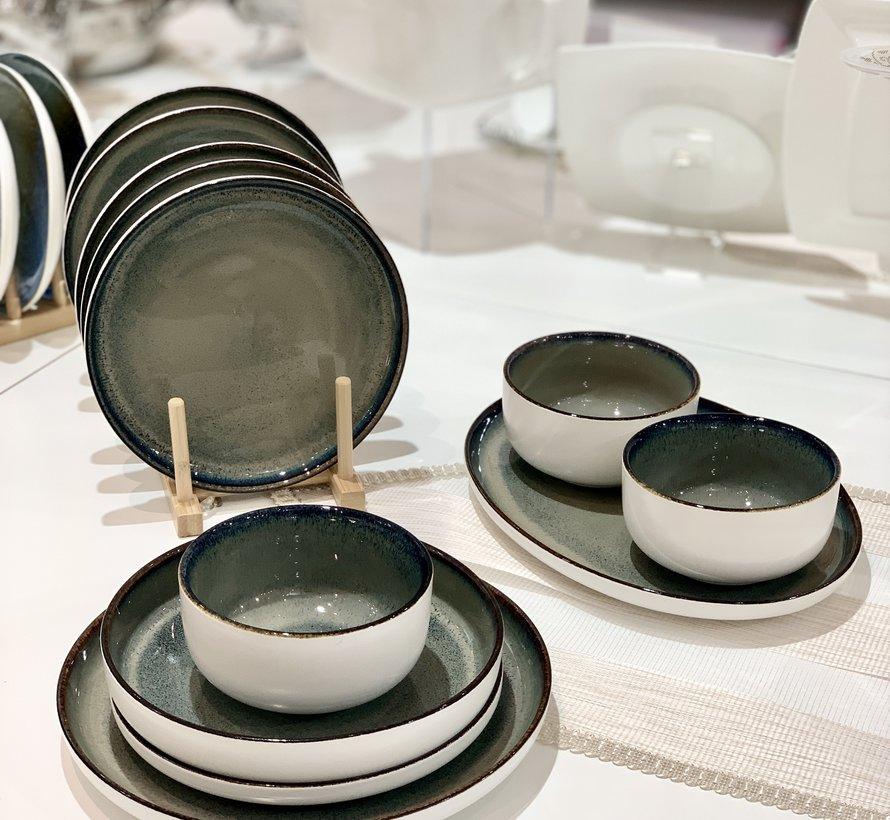 Bricard Porcelain Nice Yesil Kahve 6-Kisilik | 25-parça Yemek Takımı