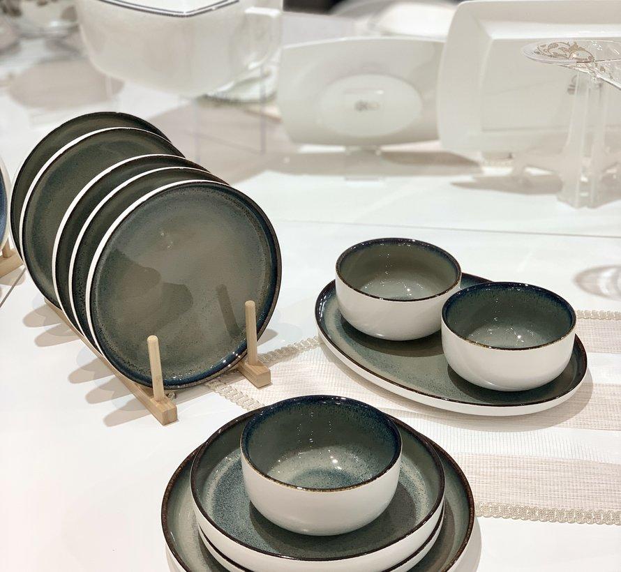 Bricard Porcelain Nice Blauw 6-Persoons   25-Delig Serviesset