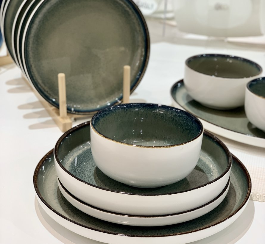 Bricard Porcelain Nice Blauw 6-Persoons | 25-Delig Serviesset