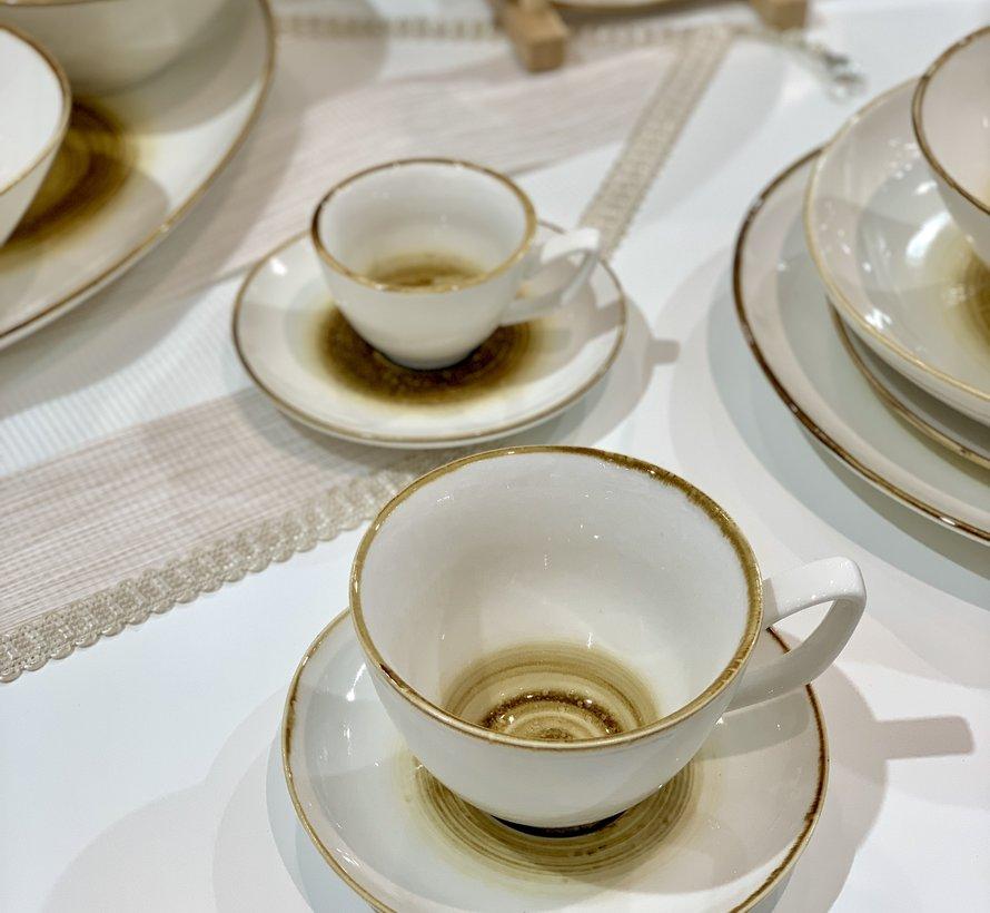 Bricard Amiens Geel Koffie & Theeset 12-Delig | 6-Persoons