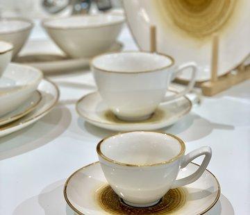 BRICARD PORCELAIN Bricard Amiens Geel Espresso set 12-Delig | 6-Persoons