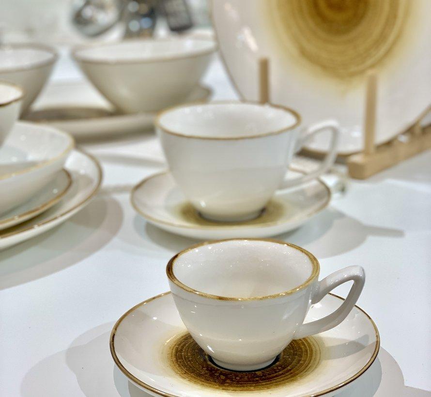 Bricard Amiens Geel Espresso set 12-Delig | 6-Persoons