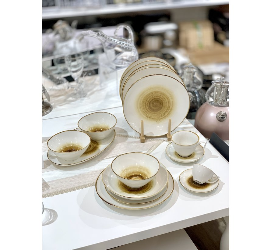 Bricard Amiens Geel Espresso set 12-Delig   6-Persoons
