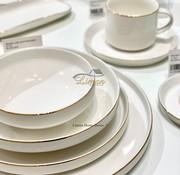 BRICARD PORCELAIN Bricard Porselen Lunel 6-Kisilik | 24-parça Yemek Takımı Gold