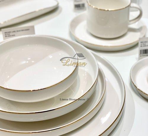 BRICARD PORCELAIN Bricard Porcelain Lunel 6-Persoons | 24-Delig Serviesset Goud