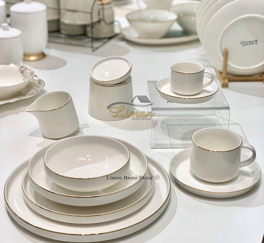 Bricard Porcelain Lunel 6-Persoons | 24-Delig Serviesset Goud