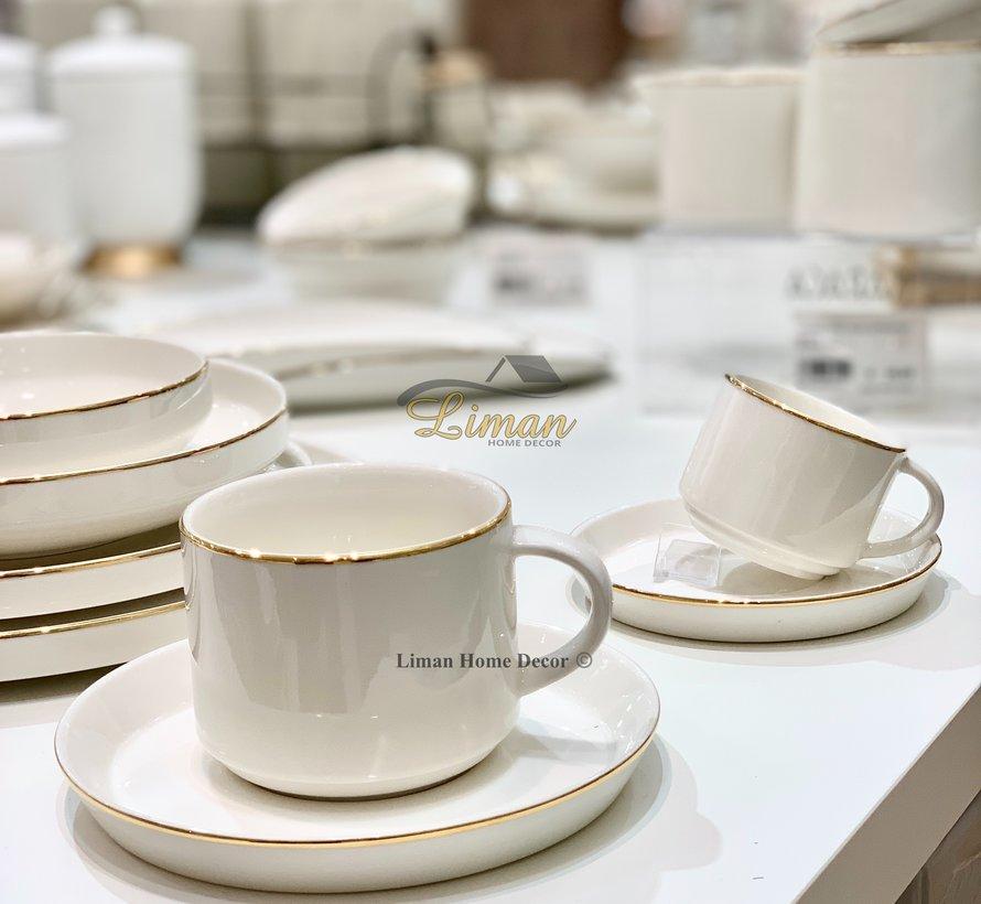 BRICARD LUNEL KOFFIE & TEA SET 12-DELIG GOUD
