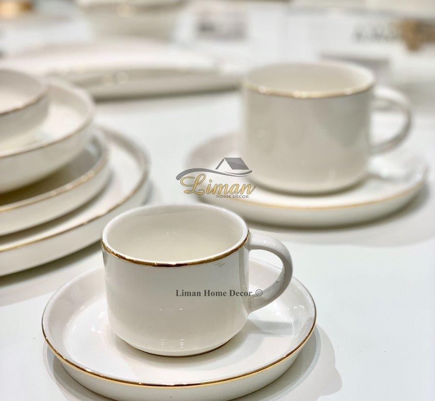 Bricard Lunel 12 Delig Espressoset Goud