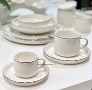 BRICARD PORCELAIN Bricard Lunel Espresso set 12-Delig   6-Persoons Zilver