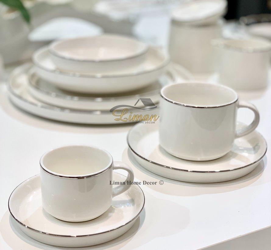 Bricard Lunel Espresso set 12-Delig   6-Persoons Zilver